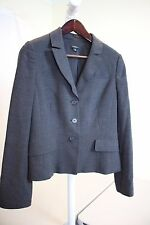 NWOT Ann Taylor Wool Blend Gray 3 Button Lined & Vented Jacket Size - 14
