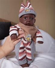 IVITA 11'' Full Silicone Reborn Baby African American Girl Lifelike Baby Toy