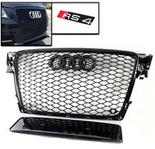 09-12 AUDI A4 AvANT S4 B8 HONEYCOMB MESH FRONT HOOD GRILLE GRILL GLOSSY BLACK
