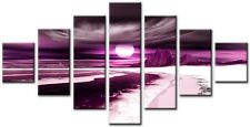 7 Panel Total Size 160x90cm Large ABSTRACT  ART CANVAS  Quality Blade Plum