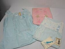 3 VINTAGE WOMENS NIGHTGOWNS PAJAMAS MINT! NOS ~ SIZE LARGE