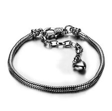 new Silver chain Screw  bangle Fit European 925 Silver bead  Bracelets wholesale
