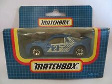 MATCHBOX MB34 FORD RS200 RALLY CAR #2 - BLUE. MIB/BOXED. 34. 'SUPERFAST' SIZE.