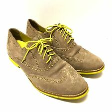 Women's Cole Haan Gramercy Wingtip Oxford Dress Shoes Size 9 Tan Yellow
