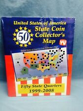 Vintage Usa State Coin Collectors Map 1999 - 2008
