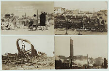 RPPC Set of 4 - Ocean City NJ Fire Disaster Ruins 1927 New Jersey Real Photos