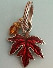 BRIGHTON MAPLE LEAF AUTUMN FALL CRYSTAL DEWDROP CHARM PENDANT