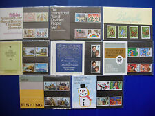 1981 - COMPLETE COLLECTION OF 8 COMMEMORATIVE  ROYAL MAIL  PRESENTATION PACKS: