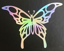 Butterfly Rainbow Holographic Vinyl Car Decal Sticker Window Laptop 09-62
