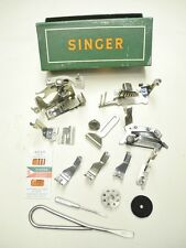 VINTAGE SINGER SEWING MACHINE ACCESSORY KIT FOR 301 SLANT HEAD SERIES, GREEN BOX