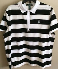 NWT~RALPH LAUREN~BLACK/WHITE SHORT SLEEVE POLO SHIRT/TOP~PLUS SIZE 2X~NEW