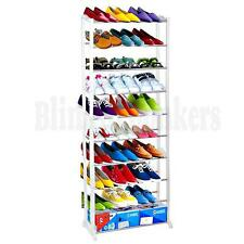 10 TIER LARGE SHOE STORAGE RACK ORGANISER STAND SHELF UNIT TIDY HOLDER SHELVES