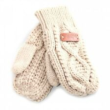 Aran Traditions Womens Ladies Winter Warm Diamond Oatmeal Mittens Mitts Gloves