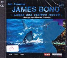 James Bond 007 + Hörbuch 2 CD + Ian Fleming + Leben und sterben lassen + NEU +