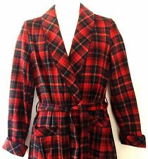 Vtg Pendleton Scottish Tartan Plaid Wrap Wool Robe Small New w Tags