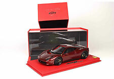 BBR 2015 Ferrari 458 ITALIA CALIFORNIA RED METALLIC 1:18 DELUXE LE 20pc Rare!