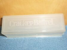 VINTAGE CLEAR KRAFT CRACKER BARREL CHEESE CONTAINER WITH LID ~ RARE  ~ GOOD COND