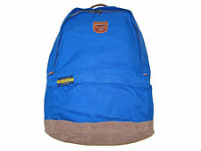 Ralph Lauren Royal Blue Rugby Backpack Suede Leather Rugged Hiking Polo Bag