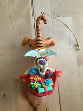Disney vintage Christmas ornament Tigger angel Grolier Collectibles porcelain