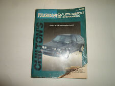 1990 91 92 1993 Chiltons Volkswagen Golf Jetta Cabriolet Repair Manual DAMAGED