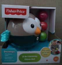 FISHER PRICE 2 IN 1 ACTIVITY CHIME BALL DEVELOPMENTAL TOY CDN46 *NEW*