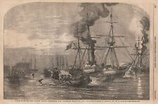 1854 STEAMSHIPS OF THE ALLIED FLEETSEARCHING FOR INFERNAL MACHINES OFF CRONSTADT