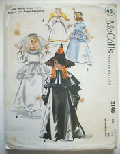 1950's Halloween bride witch fairy angel child's costume pattern 2148 size 6-8