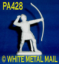 PA428 Military Lead Casting 1:39 Medieval English Longbowman (Archer) Firing