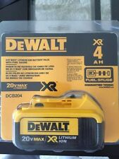 NEW DEWALT DCB204 CORDLESS TOOL 20 VOLT MAX XR 4.0 AH LITHIUM ION BATTERY PACK