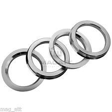 4 Anelli Centraggio Alluminio 72,6 - 57,1 Tomason Audi VW Brock Keskin RC Oxigin
