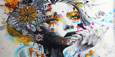 200cm x100cm SUPER SIZE CANVAS PRINT - URBAN PRINCESS  GRAFFITI STREET  ART