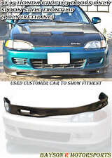 Spn-Style Front Lip (Urethane) Fits 92-95 Civic 2dr