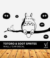 Totoro & Soot Sprites Wall Graphic, Art, Wall Sticker, Vinyl Sticker, Home Decal