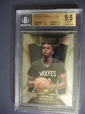 ANDREW WIGGINS 2014-15 Panini Select #100 BGS GEM MINT 9.5 RC Timberwolves RoY