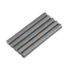 5Pcs Black 99.99% Graphite Electrode Cylinder Rod Diameter 10mm Length 100mm