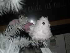 BETHANY LOWE-- TISSUE PAPER BIRD CLIP ON ORNAMENT-PINK-NEW
