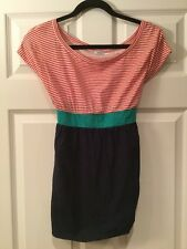 Kimchi Blue Red & White Striped Top With Navy Blue Bottom, Size Medium
