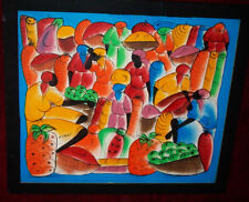 URBAN art Painting Signed POP Cubism Graffiti African American Culture ABSTRACT