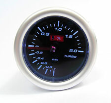 Affumicato 52mm Universale Turbo boost gauge 2 bar AUDI SEAT MOTORI TURBO