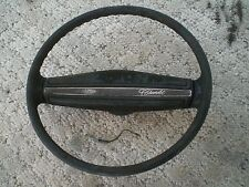 NOVA CHEVELLE MONTE CARLO OEM BLACK STEERING WHEEL WITH HORN PAD CONTACT CAM