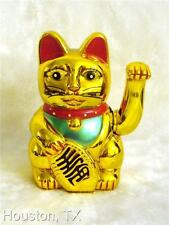 "14"" BIG Chinese Lucky Good Luck Gold Waving Hand Paw Up Kitty Japanese Cat New"