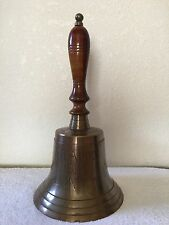 """Antique Titanic 1912 London Solid Brass  Large 16"""" Handheld Bell Reproduction"""