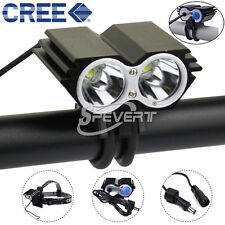 5000LM 2x CREE XML U2 LED Cyclisme Ampoule Bicycle Light Bike Headlamp Headlight