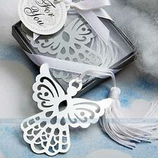 Stainless Steel Silver Guardian ANGEL BOOKMARK Tassels Page Marker Ribbon Box