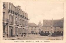 CPA 91 ANGERVILLE MAIRIE MONUMENT