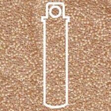 Miyuki Round Seed Beads 8.2g tube 15/0 Lined Ivory AB-APX