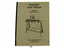 Foley Belsaw  Model 355000 Knife Grinder Operating & Parts List  Manual *1103