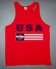 HARD ROCK CAFE / USA HOLLYWOOD / RED SLEEVELESS TOP TANK T-SHIRT SIZE L
