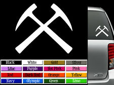 "Geology Rock Pick Logo Vinyl Decal Auto Graphics Window Wall Sticker 4"" Wide"