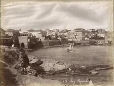 #1516 2 Original Photos Piaz Beyrouth Beirut Lebanon & Giza Egypt Bonfils c.1880